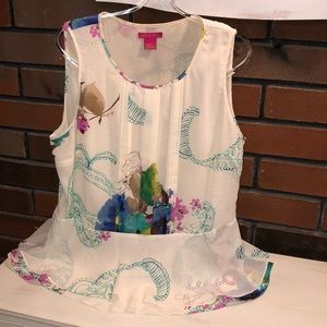 Ladies Top, size L, Sunny Leigh, Cool and Lovely